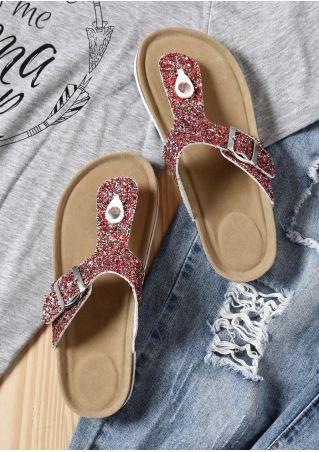 Glitter Flat Flip Flops