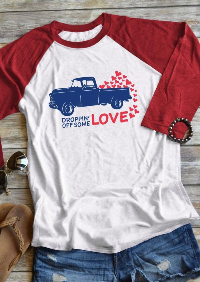Droppin' Off Some Love Baseball T-Shirt Tee