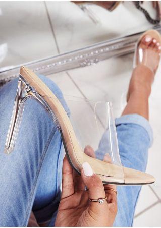Peep Toe Heeled Sandals