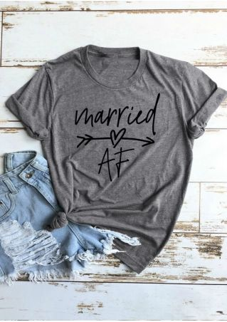Married AF Arrow T-Shirt Tee