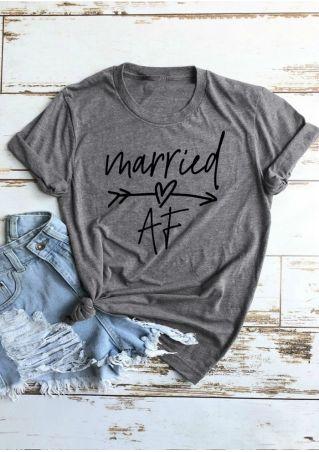 Married AF Arrow T-Shirt Tee