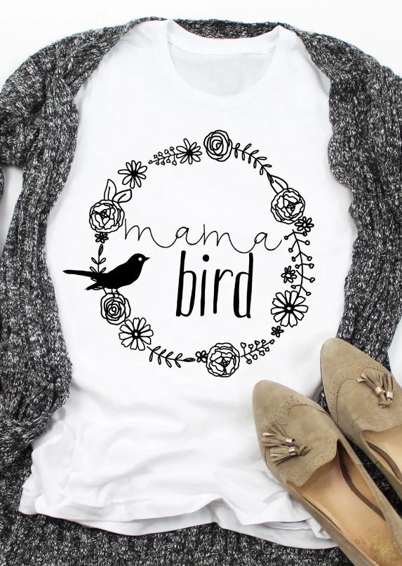 Mama Bird Floral T-Shirt Tee