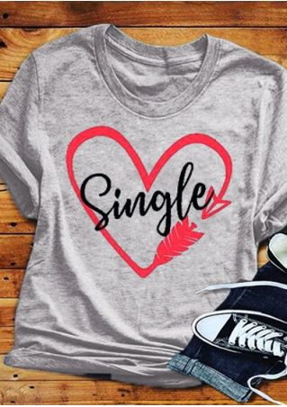 Single Arrow Heart T-Shirt Tee