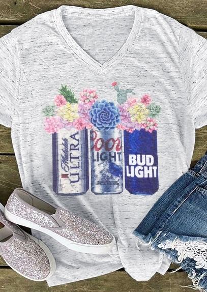 Coors Light Bud Light Michelob Ultra Beer T-Shirt Tee