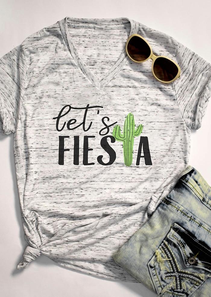 Let's Fiesta Cactus T-Shirt Tee