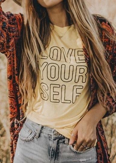 Love Yourself Short Sleeve T-Shirt Tee