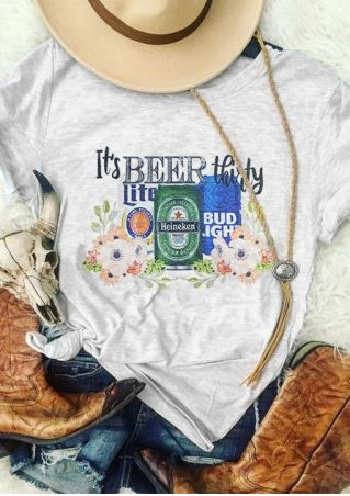 It's Beer Shirty Shirt T-Shirt Tee