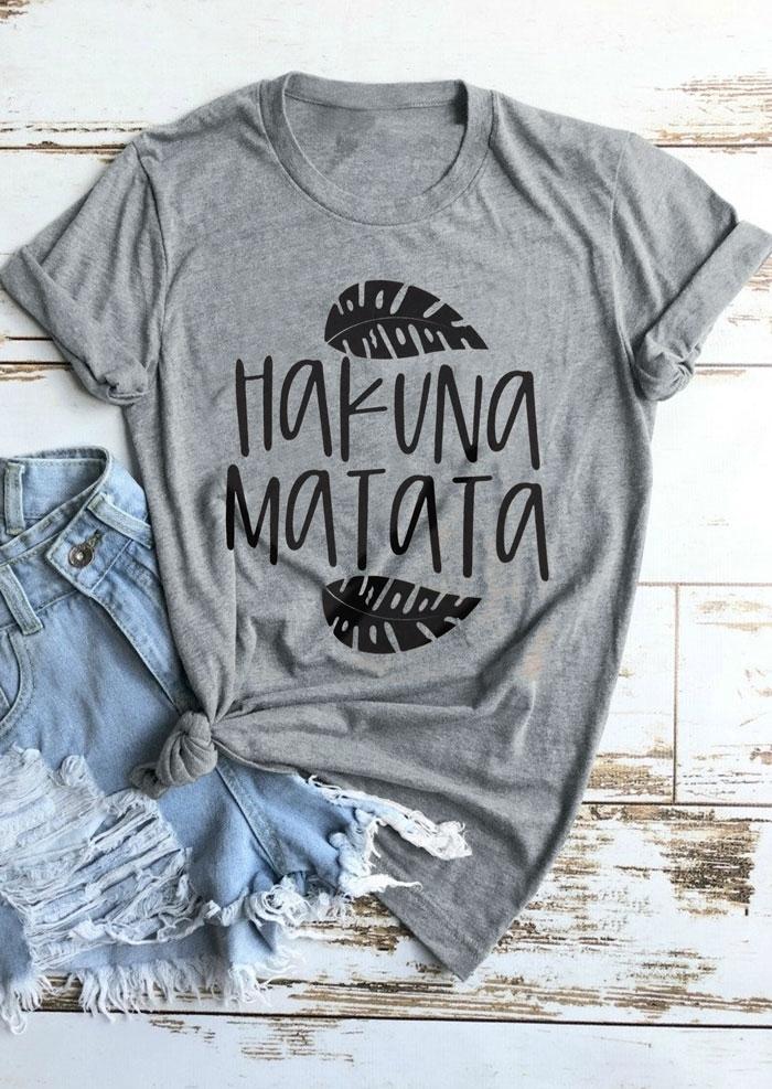 Hakuna Matata O-Neck T-Shirt Tee