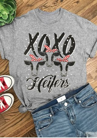 Xoxo Heifers Short Sleeve T-Shirt Tee
