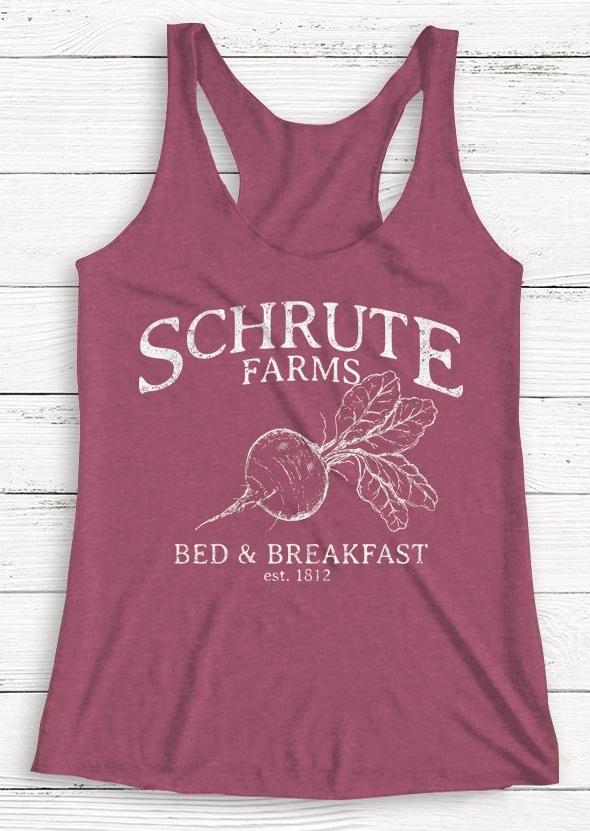 Schrute Farms Red & Breakfast Tank