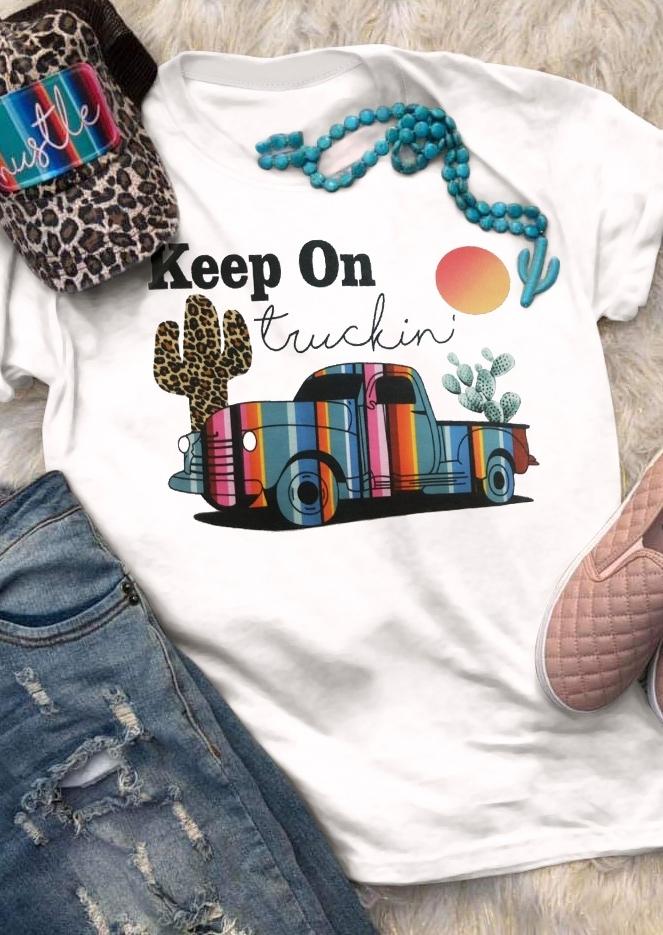 Keep On Truckin' Cactus T-Shirt Tee
