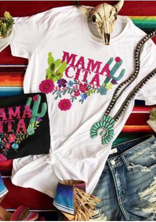 Mama Cita Floral Cactus T-Shirt Tee