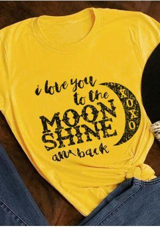 I Love You To The Moon Shine T-Shirt Tee