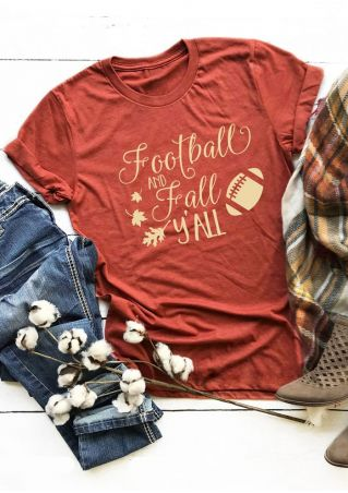 Football And Fall Y'all T-Shirt Tee