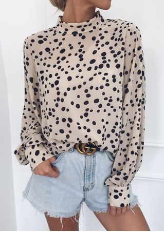 Dot Long Sleeve Blouse