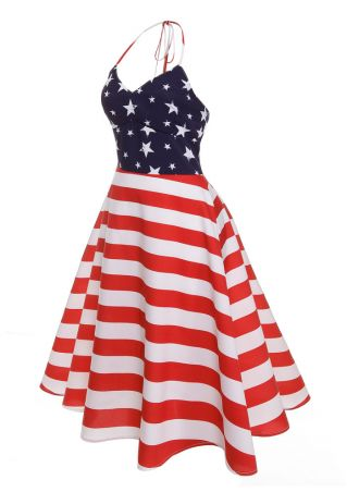 American Flag Halter Mini Dress