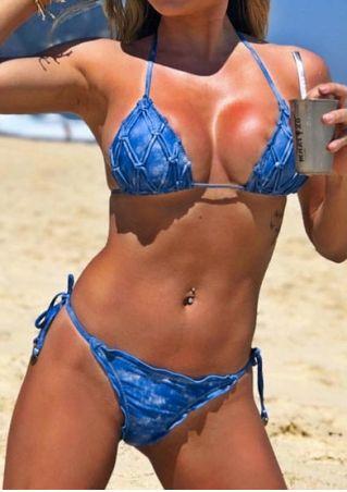 Solid Halter Sexy Bikini Set