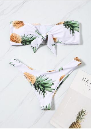 Pineapple Tie Sexy Bikini Set