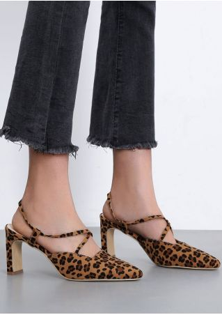 Leopard Pattern Pointed Toe Heels