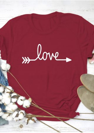 Love Arrow Short Sleeve T-Shirt Tee