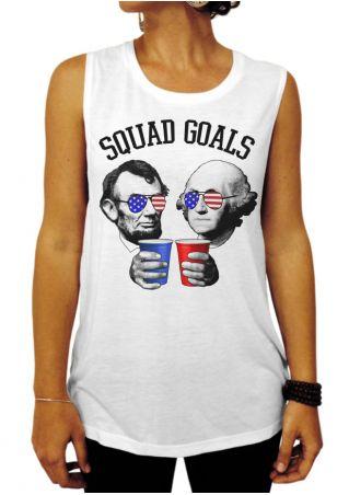 Squad Goals American Flag Tank