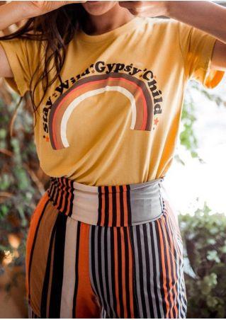 Stay Wild Gypsy Child Rainbow T-Shirt Tee