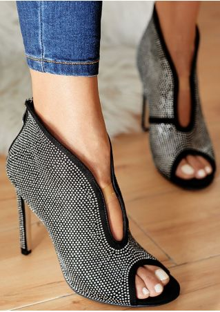 Splicing Peep Toe Heels