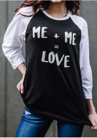 Me Love O-Neck Baseball T-Shirt Tee