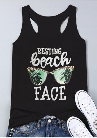 Resting Beach Face Tank