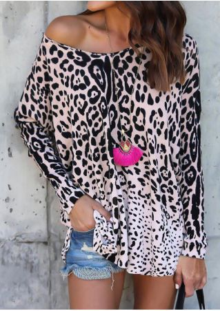 Leopard Printed Long Sleeve Blouse