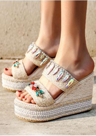 Summer Splicing Wedge Sandals