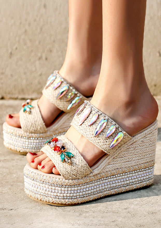 Summer Splicing Wedge Sandals