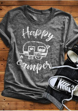 Happy Camper Short Sleeve T-Shirt