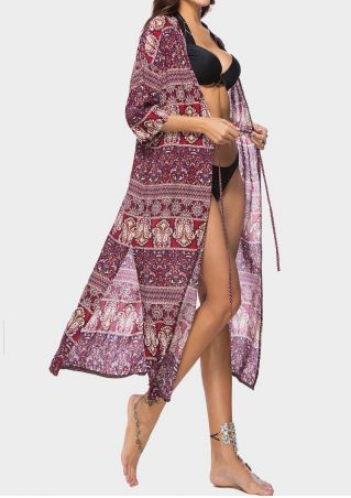 Printed Slit Tie Cover Up
