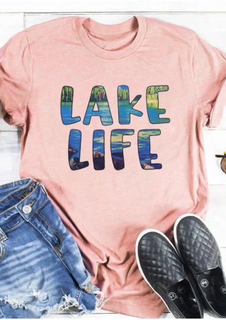 Lake Life O-Neck T-Shirt Tee