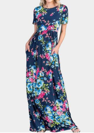 Floral Printed Pocket Maxi Dress