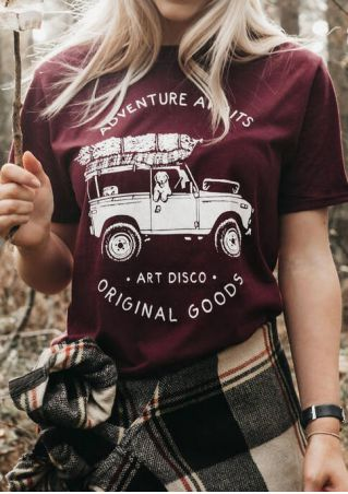 Adventure Awaits Original Goods T-Shirt Tee