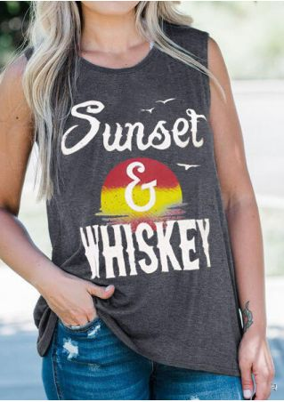 Sunset & Whiskey O-Neck Tank