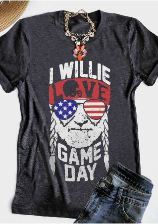 I Willie Love Game Day T-Shirt Tee