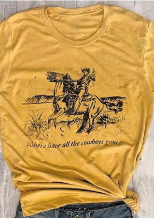 Where Have All The Cowboys Gone T-Shirt Tee
