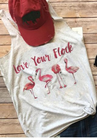 Love Your Flock Flamingo Tank