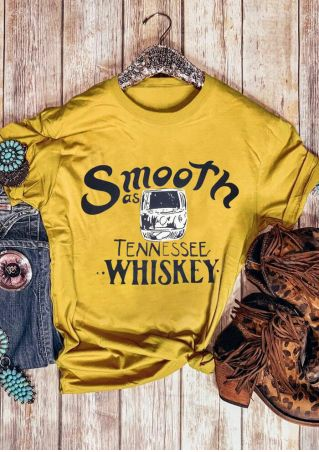 Smooth As Tennessee Whiskey T-Shirt Tee
