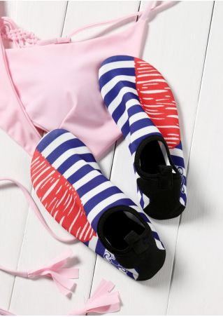 Striped Round Toe Sport Sneakers