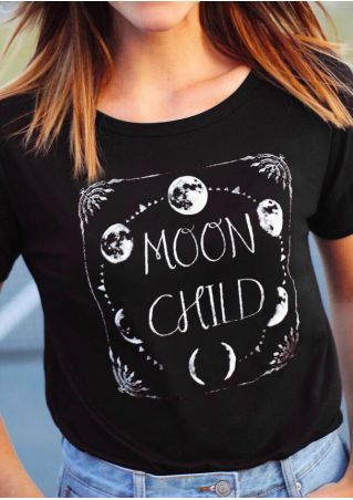 Moon Child O-Neck T-Shirt Tee
