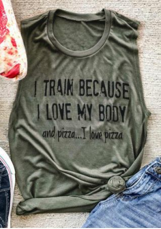 I Love My Body And Pizza Tank