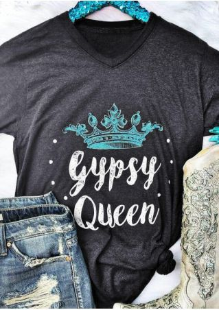 Gypsy Queen Crown T-Shirt Tee