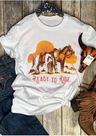 Ready To Ride O-Neck T-Shirt Tee
