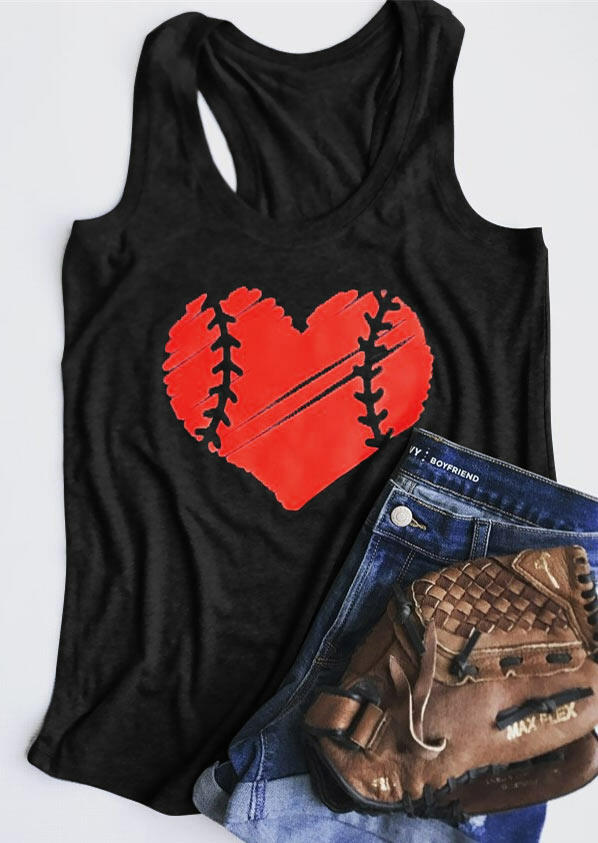 Baseball Heart O-Neck Tank