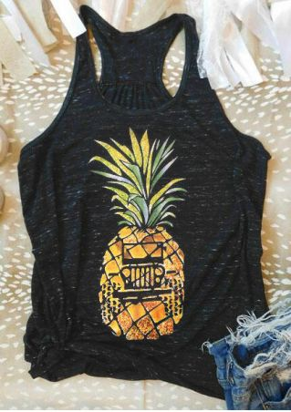 Pineapple Jeep O-Neck Tank