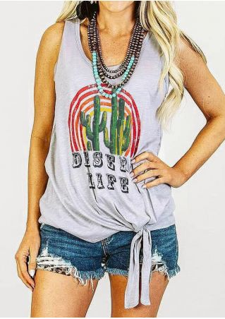 Cactus Desert Life O-Neck Tank without Necklace